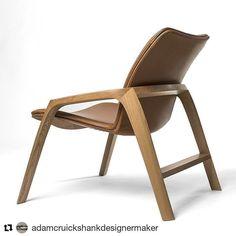 441 отметок «Нравится», 3 комментариев — Australian Wood Review (@woodreview) в Instagram: «New low lounger in full-analine leather and french oak by @adamcruickshankdesignermaker ・・・…»