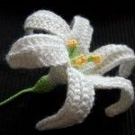 Crochet Easter Lily (November Lily) free
