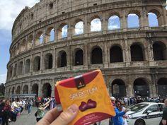 Nuestras cápsulas Selectum en Roma, en el Coliseo.