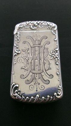 "Antique 1895 Kerr Sterling Silver ""The Abduction of Psyche"" Match Box Safe Vesta   eBay"
