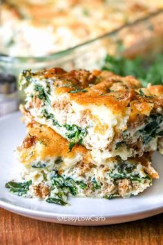 Spinach Cheese Egg Bake Spinach Bake, Spinach Ricotta, Spinach And Cheese, Spinach Recipes, Keto Recipes, Ricotta Pasta, Frittata Recipes, Egg Bake Casserole, Spinach Casserole