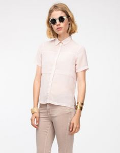 PANEL SHIRT by Topshop
