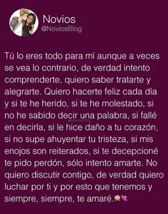 Lo se amor ,te entiendo Sad Love Quotes, Love Quotes For Him, Love Phrases, Love Words, Quotes En Espanol, Facebook Quotes, Boyfriend Texts, Husband Quotes, Couple Quotes
