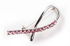 Roosa nauha kampanjan rintakoru inspiroitui perinteisestä roosasta silkkinauhasta Bobby Pins, Ribbon, Hair Accessories, Personalized Items, Pink, Beauty, Tape, Band, Hairpin