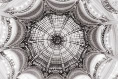 Paris Photography  Black and White Ceiling at by ParisianMoments