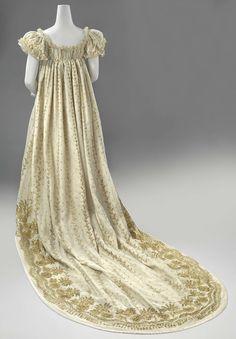 1806-1810, France (?) - Court dress - Silk, tulle, gilded copper thread