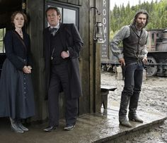 Colm Meaney, Anson Mount, Jennifer Ferrin, and Ferrin Thomas in Hell on Wheels Nike Joggers, Nike Hoodie, Nike Inspiration, Anson Mount, Nike Spandex, Nike Boots, Hell On Wheels, Tv Westerns, Last Episode