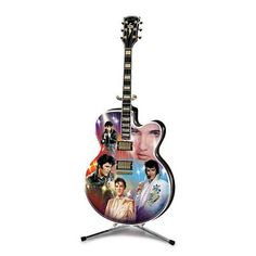 Thomas Kinkade Elvis Rockin Through The Ages Guitar