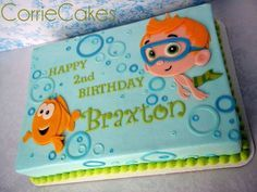 bubble guppies cake just need to make it girlie