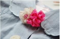 DIY Crafts : DIY make handmade brooches-fabric flower brooch
