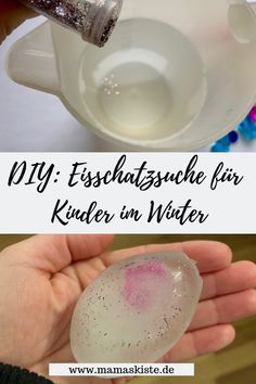 DIY: an ice treasure hunt in winter - mamaskiste.de - A simple and quick DIY idea for children is the ice treasure hunt in winter! Winter Crafts For Kids, Winter Fun, Winter Activities, Activities For Kids, Schnee Party, Diy Crafts To Do, Simple Crafts, Clay Crafts, Felt Crafts