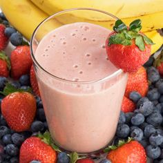 Berry Breakfast Smoothie http://www.womenshealthmag.com/weight-loss/healthy-breakfast-recipes/berry-breakfast-smoothie