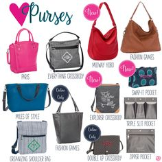 Purses by Thirty-One. Fall/Winter 2016. Click to order. Join my VIP Facebook Page at https://www.facebook.com/groups/1603655576518592/