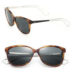 fcb572c666ef3e Dior Confident 57MM Square Sunglasses (20.655 RUB) ❤ liked on Polyvore