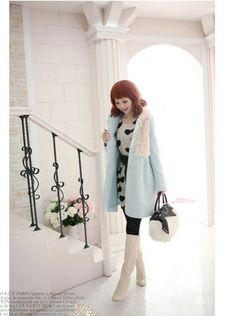 KPOPCITY - SR100. Cute Fur Jacket (Only Beige Left)