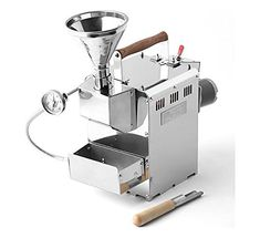KALDI Home Coffee Roaster Motorize Type Full Package Including Thermometer, Hopper, Probe Rod, Chaff Holder (Gas Burner Required)
