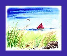 Red Boat Blue Sea' - http://irina-sztukowski.artistwebsites.com/featured/red-boat-blue-sea-irina-sztukowski.html
