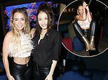 Love Islands Georgia Harrison flashes her abs in a feathered crop top