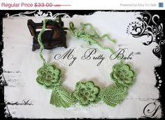 Last days - CHRISTMAS IN JULY SALE - 11TH TO 31ST JULY! Irish Crochet Necklace @My Pretty Babi - Handmade Crochet  #myprettybabi #EtsyCIJ @Etsy @Meylah Marketplace #handmade #crochet