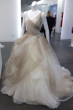 Love this ombre ballgown from White By Vera Wang..would look super cool with pink, lavendar, or blue.