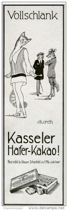 Original-Werbung/ Anzeige 1928 - KASSELER HAFER- KAKAO -  ca. 65 x 220 mm