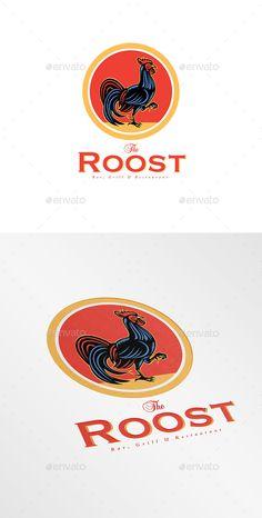 cb4da0adefa58 The Roost Bar Logo — Vector EPS  chicken  artwork • Available here → https