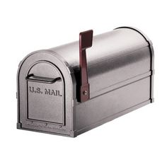 Home  Mailbox: Deluxe Heavy Duty Rural Mailbox: Pewter