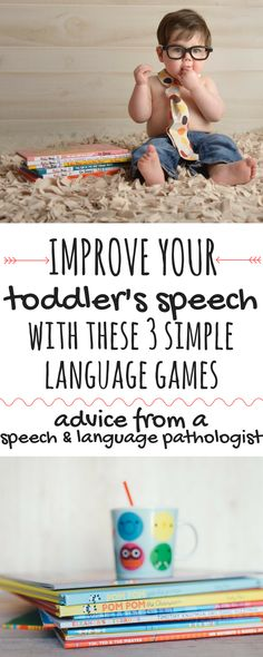 Use these 3 simple language games to boost your toddler's speech development. These speech activities are based on the research in phonemic awareness and can have a huge impact on your toddler's speech! This advice is directly from a licensed speech & language pathologist! | Toddler Speech | Articulation | Vocabulary Development | Phonemic Awareness | Language Activities for Preschooler | Early Literacy Activities |