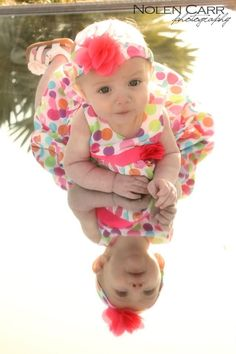 6 month pictures on a mirror!
