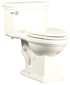 "Is it time to replace your toilet? Consider swapping out your current toilet with this #Mirabelle ""Key West"" one piece toilet.  Not only do one piece #toilets offer a clean and streamlined look, but they offer a concealed trapway, which makes for easy cleaning."