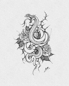 Tattoo Sketches, Drawing Sketches, Drawings, Blackwork, Traditional Snake Tattoo, Tummy Tuck Scars, Snake Drawing, Custom Painted Shoes, Dark Tattoo