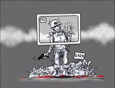 mídia, israel e palestina