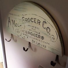 Vintage Grocer Sign / Painted Graphic Sign / by JMFindsandDesigns, $45.00