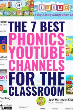 Phonics instruction is an important part of learning to read. Preschool, kindergarten and first grade students will have a lot of fun practicing all of these important skills with videos from the best Phonics Reading, Teaching Phonics, Kindergarten Reading, Preschool Kindergarten, Preschool Learning, Teaching Reading, Teaching Kids, Guided Reading, How To Teach Phonics