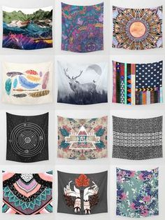 Society6 Boho Tapestries - Society6 is home to hundreds of thousands of artists from around the globe, uploading and selling their original works as 30+ premium consumer goods from Art Prints to Throw Blankets. They create, we produce and fulfill, and every purchase pays an artist.