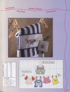 Baby clothes line pattern for X stitch