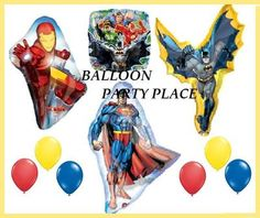 Superhero Justice League Birthday Party Balloons Superman Spiderman Ironman New | eBay.  18.00