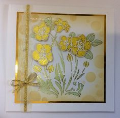 Handmade card by Lisa B. New Imagination Crafts' Starlights & stencils - COMING SOON!