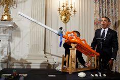 Photos: Barack Obama Loves Kids, Chairs, Fedoras, Pirates, and Nancy Reagan | Mother Jones