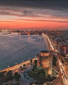 Thessaloniki, Photo Credit, Sunlight, Airplane View, Paris Skyline, Greece, Tower, World, Travel