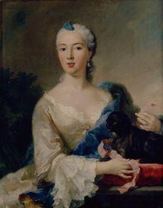 """George Desmarées (1697-1776): """"Anna Maria Gräfin Holnstein, um 1756  Staedtische Galerie im Lenbachhaus, Munich"""" http://en.wikipedia.org/wiki/Georg_Desmar%C3%A9es"""
