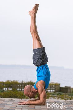 Feathered Peacock pose or Forearm Balance will build strength in your shoulders, arms, core, and back—and turn your world upside down, literally.