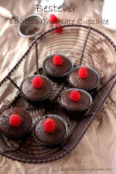 After my interesting trials, finally I have reached to a point to say the Best Ever Eggless Chocolate Cupcake recipe is here. Eggless Chocolate Cupcakes, Egg Free Chocolate Cake, Chocolate Mousse Pie, Eggless Desserts, Eggless Recipes, Eggless Baking, Vegan Cupcakes, Chocolate Chip Muffins, Homemade Chocolate