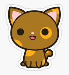 Cute Animal Drawings, Kawaii Drawings, Easy Drawings, Kawaii Stickers, Cute Stickers, Kawaii Doodles, Dibujos Cute, Tumblr Stickers, Disney Coloring Pages