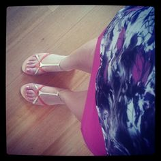 Tony Bianco sandals, pink skirt, colourful top. Spring/Summer look