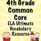 Vocabulary is essential! Help your students master the vocabulary from the 4th Grade ELA Common Core Standards. This 200 page printable packet includes a printable word wall, flip books, domain headings, and flash cards. This will save you HOURS of work!