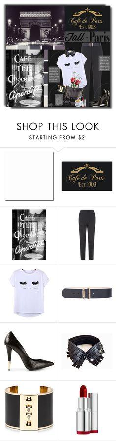 """""""I Love Paris in the Fall"""" by jelenalazarevicpo ❤ liked on Polyvore featuring Fenn Wright Manson, Chicnova Fashion, Balenciaga, Giuseppe Zanotti, CH Carolina Herrera, Pluma and Clarins"""