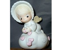 """1987 PRECIOUS MOMENTS Figurine ~ RETIRED! """"Sending You My Love"""" by MarlosMarvelousFinds, $40.00"""