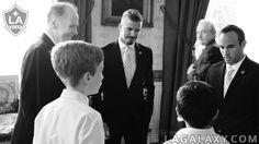 Landon Donovan, David Beckham at The White House. LA Galaxy
