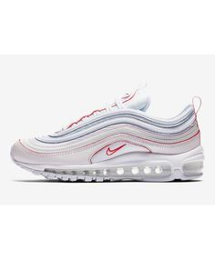 f5ba1ae315d Nike Air Max 97 Chaussures Blanc Rouge Bleu Nike Air Max Trainers